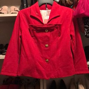Cabi red bow jacket 6 nwt